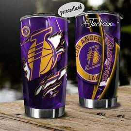 Trending Personalized Name National Basketball Association Los Angeles Lakers Tumbler
