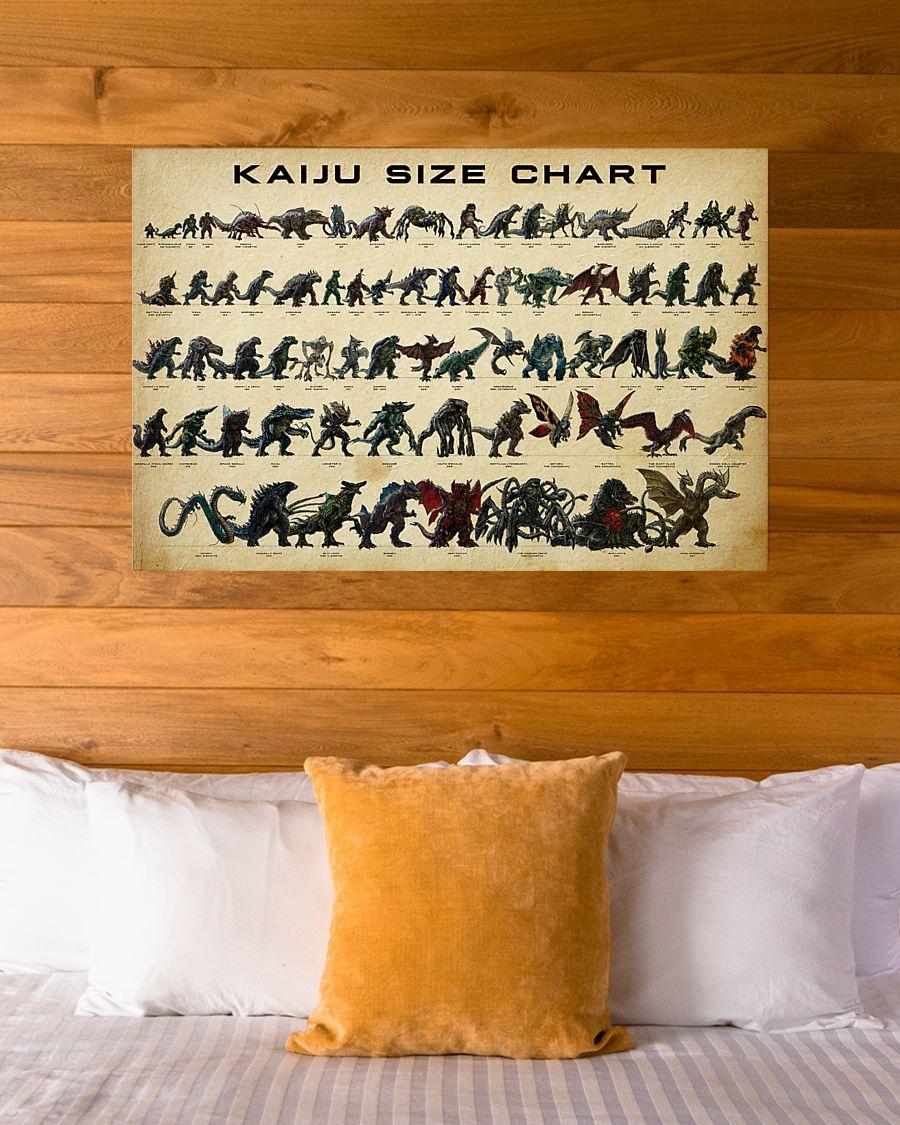 Kaiju size chart design by Jaroslav Kosmina poster