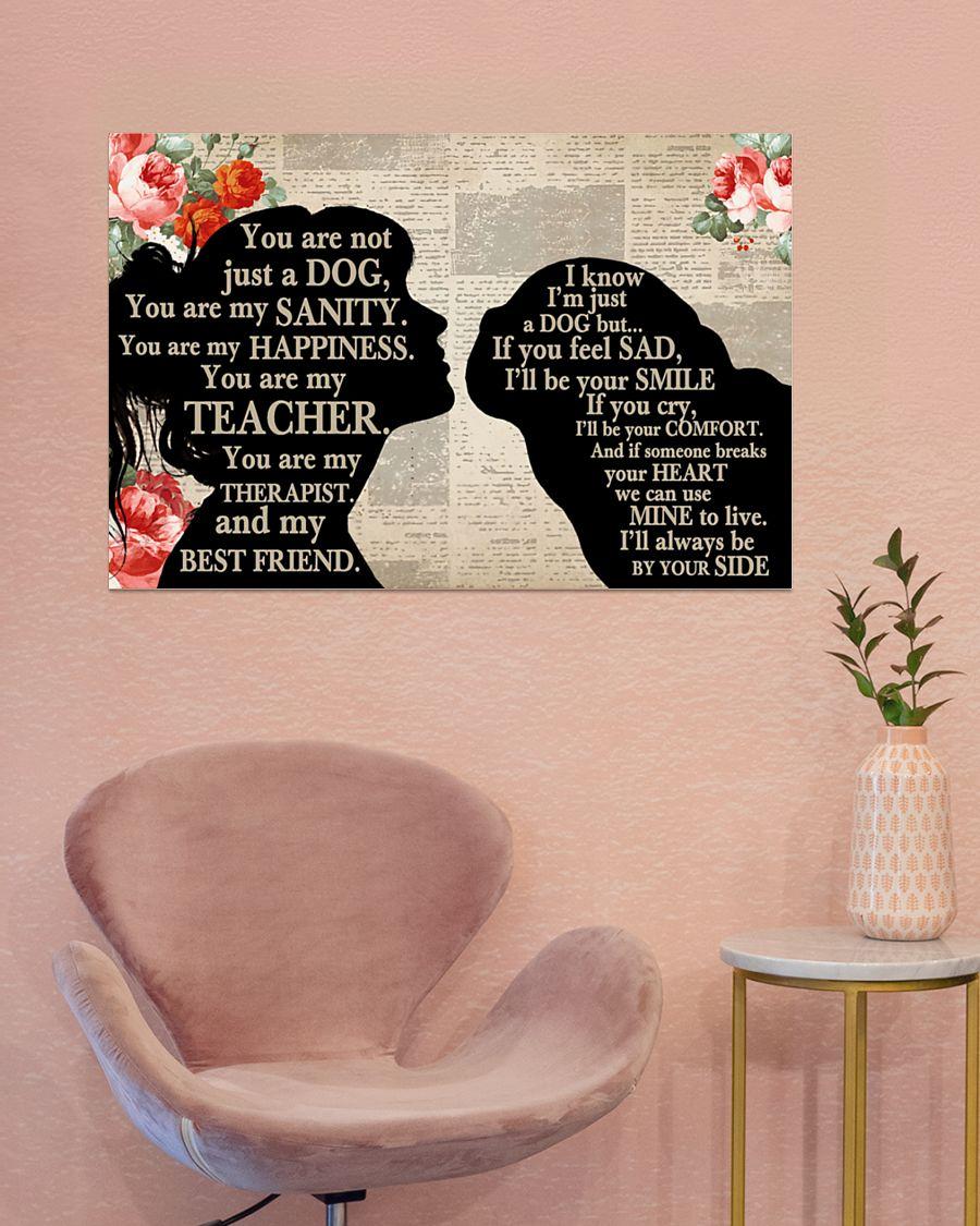 Pug girl therapist best friend poster