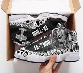 Trending viking fathor all over printed air jordan 13 sneakers