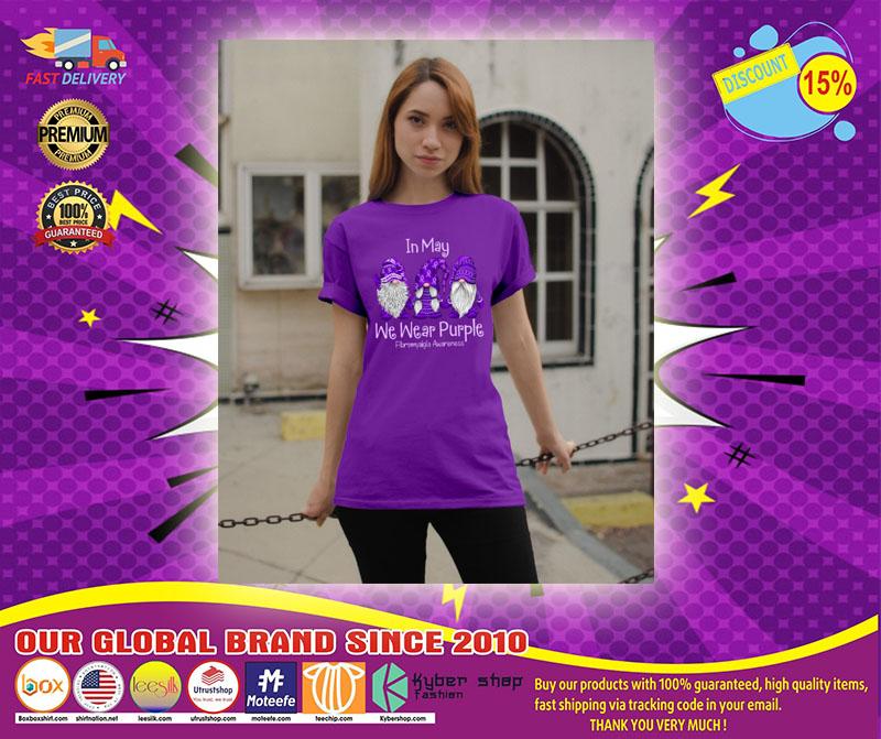 [LIMITED] In May We Wear Purple Fibromyalgia Awareness Shirt