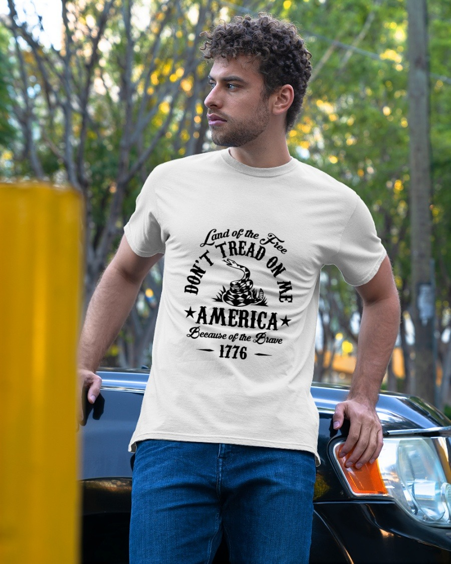 [LIMITED] Land of the free don't tread on me america shirt