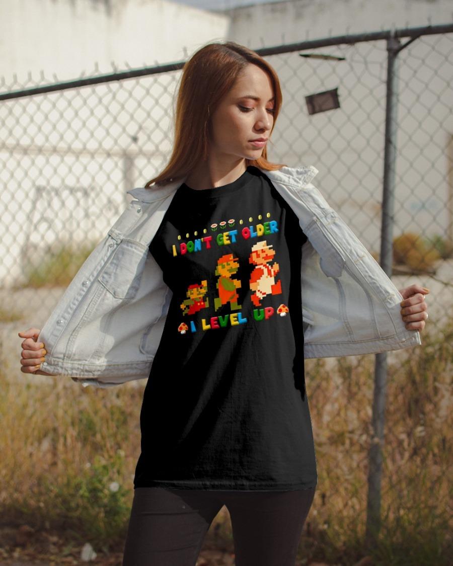 [LIMITED] Mario I don't get older I level up shirt